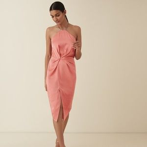Reiss Paola Satin Dress